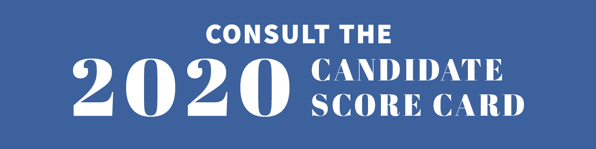 Consult the RAICES Action 2020 Candidate Score Card